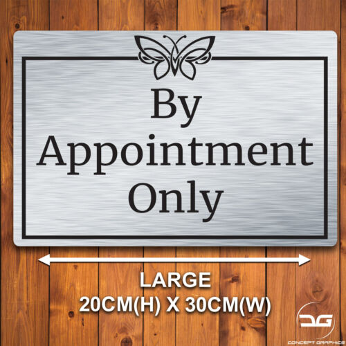 By Appointment Only Hairdressers Salon Tattoo Spa Notice Metal Wall Sign Plaque