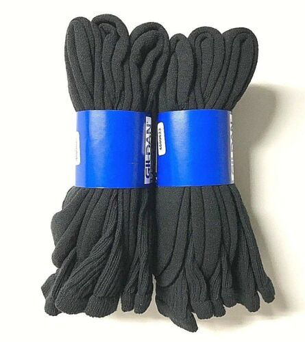 "Boy/""s GILDAN Black Sport Crew Sock Shoe Size L 3-9.NEW,"