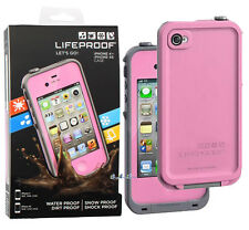 LifeProof Fre Waterproof Protective Case for Apple iPhone 4/4s Pink /gray