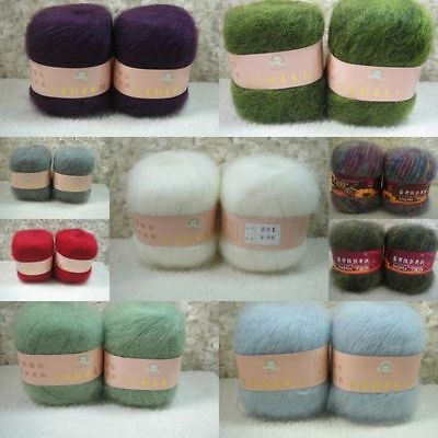 Wholesale! Luxury Angola Mohair Cashmere Wool Yarn Skein Lot Fine Mordern