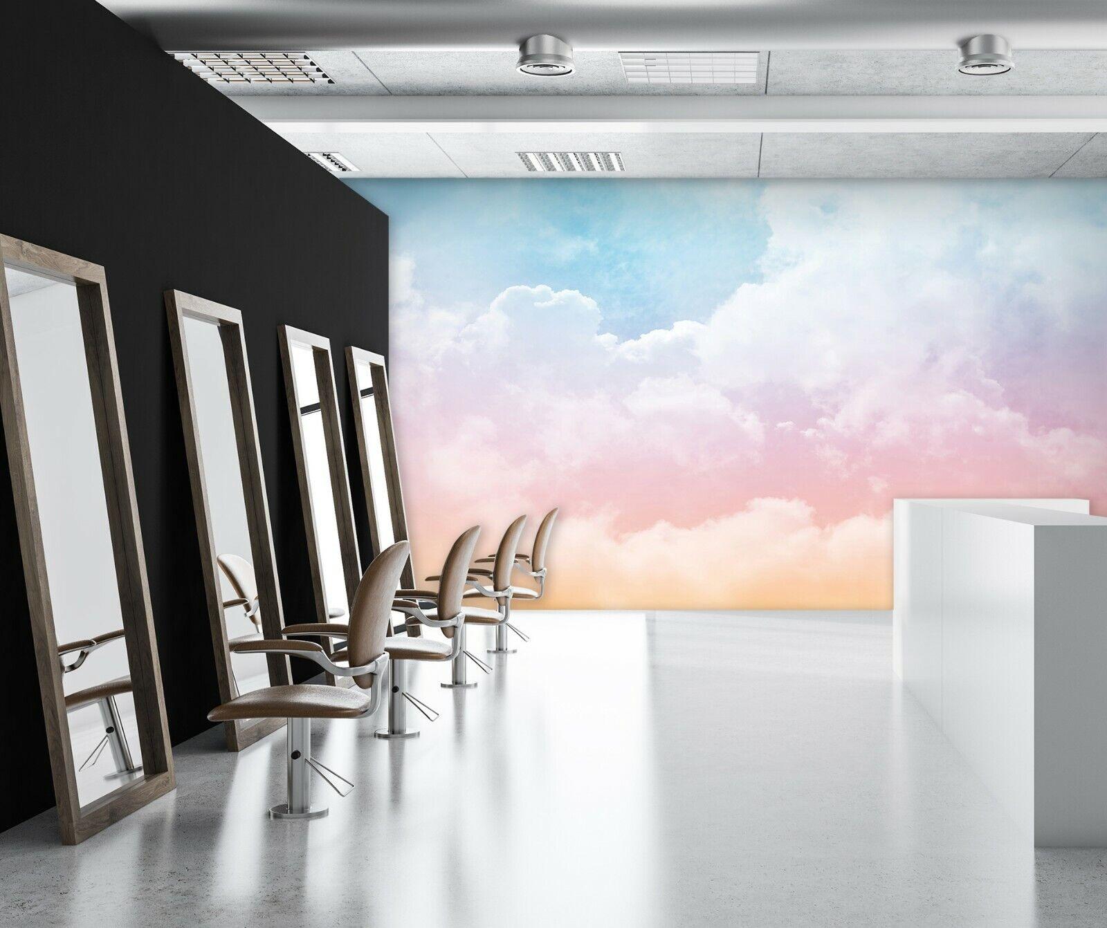 3D Blauer Himmel Weiße H64 Geschäft Tapete Wandgemälde Selbstklebend Handel An