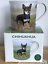 Black /& Tan Chihuahua lover china mug all round print Leonardo range gift boxed
