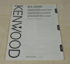 Kenwood KX-5050 original Bedienungsanleitung (mehrsprachig, auch in Deutsch)