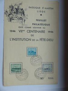 TIMBRE-BELGIQUE-ANNEE-1946