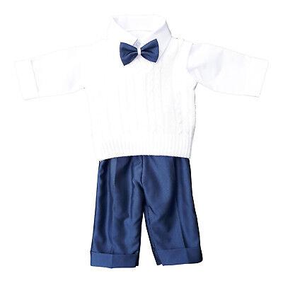 Taufanzug Babyanzug Anzug Jungen Baby Taufe Festbekleidung Weste SET weiß grau
