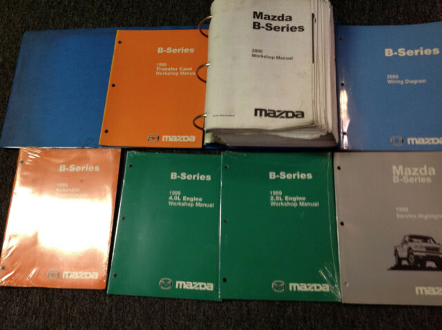 1995 Mazda B Series Truck Service Shop Manual Set Service Manual Service Highlights Manual And
