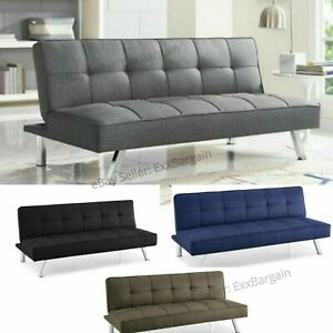 free shipping 7159e 9ed2f Details about Modern Futon Sofa Couch Bed Sleeper Convertible Lounge Living  Room Furniture
