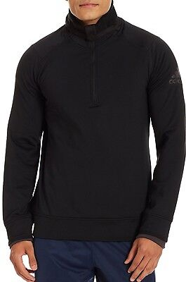 Bene Adidas Climaheat Mezza Zip Da Uomo Formazione Felpa Con Cappuccio-nero-