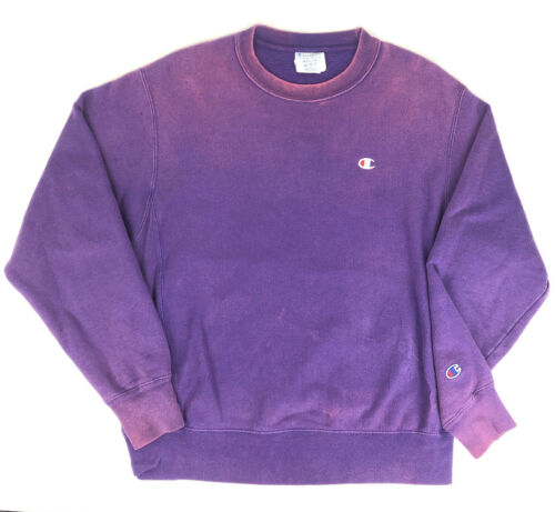 Vintage Champion Purple Faded Pink Reverse Weave S