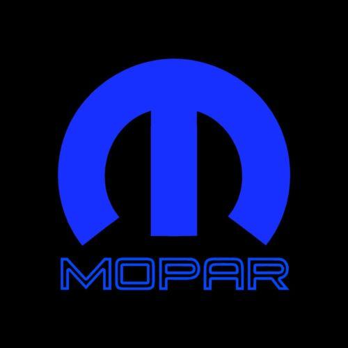 Mopar decal sticker 10 x10 inch blue vinyl