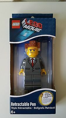 Lego The Lego Movie Lord Business Retractable Pen New in Box 6+ Boys & Girls