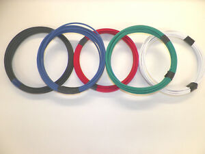 14 GXL 7 SOLID COLORS 10 FEET EACH 70 FT TOTAL HIGH TEMP AUTOMOTIVE POWER WIRE