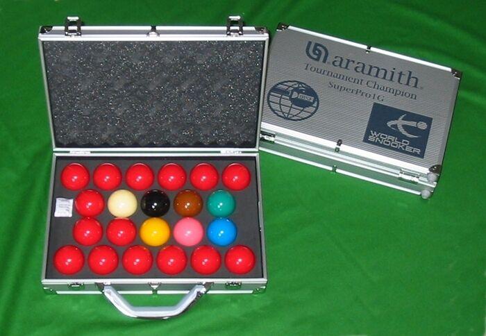 Nuevo Aramith Superpro 1 Gr World Championship Snooker Mesa Bolas en Aluminio De