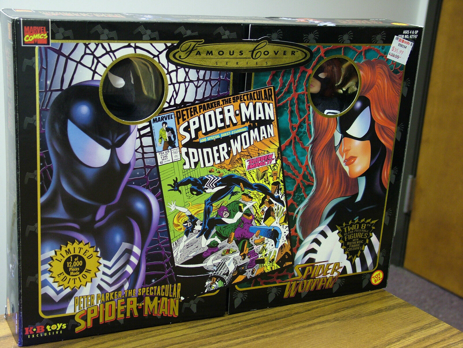 Famous Cover - Spider-Man and Spider-Woman --  Limited Edition  1998