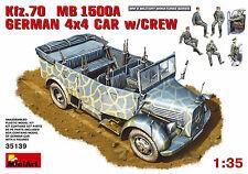 MIN35139 - Miniart 1:35 - Kfz.70 (MB 1500A) German 4x4 Car w/ Crew