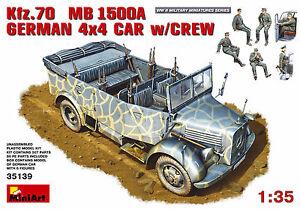 min35139-Miniart-1-3-5-kfz-70-MB-1500a-Aleman-4x4-Car-w-Crew