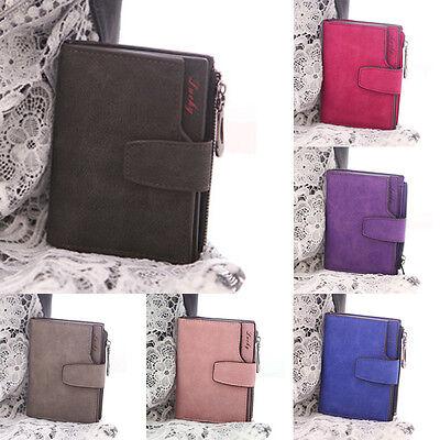 Women's PU Leather Wallet Clutch Purse Lady Short Handbag Bag Coins Bags GN