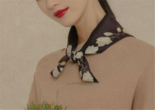Women Girl boho Retro look Soft Genuine 100/% Silk Scarf hair HEAD Bandana Wrap