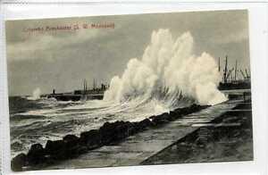Gq546-407-Colombo-Breakwater-Monsoon-Ceylon-Sri-Lanka-c1910-Unused-EX
