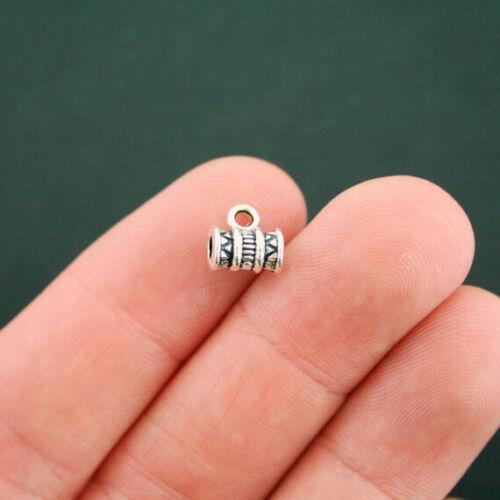 SC5729 12 Bail Beads Antique Silver Tone Tribal Design