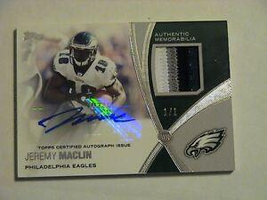 2012 Topps Jeremy Maclin Philadelphia Eagles 4 Color Patch GU Auto 1/1