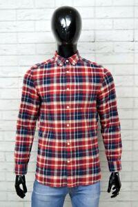 Camicia-Uomo-H-amp-M-Taglia-Size-S-Shirt-Man-Maglia-a-Scacchi-Quadri-Manica-Lunga