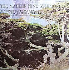 The Mahler Nine Symphonies Boult Schwarz Mitropoulos 12xLP Everest 3359 EX/EX