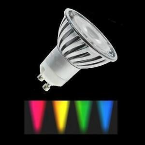 Das Bild Wird Geladen LED Farbig GU10 3W 6W Rot Blau Gruen