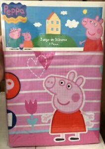 Completo Letto Singolo Peppa Pig Puro Cotone 100 Originale Sopra Sotto Federa Ebay