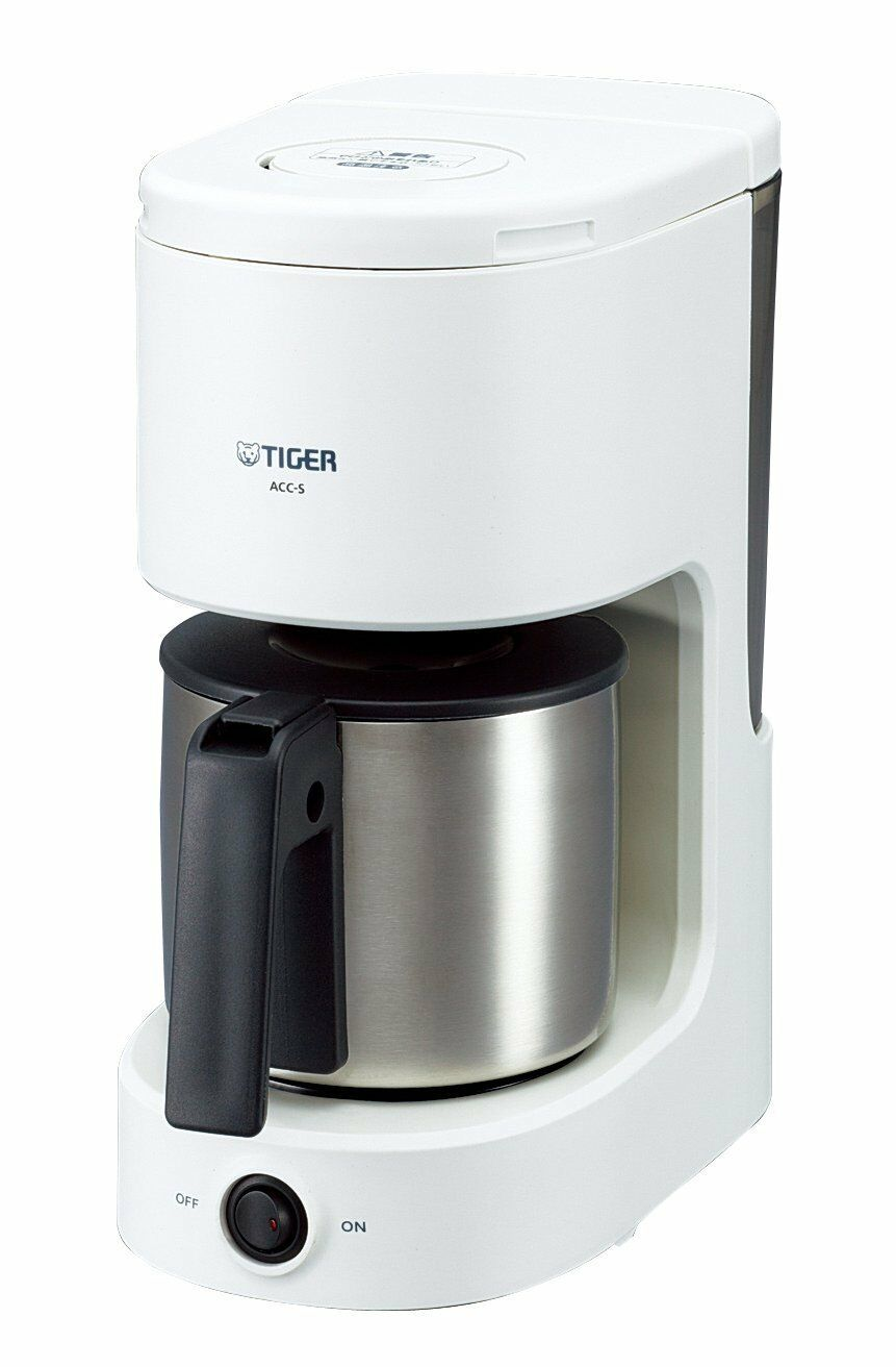 Tiger Cafetière 6 Tasses Acier Inoxydable Serveur Blanc ACC-S060-W from Japan F S