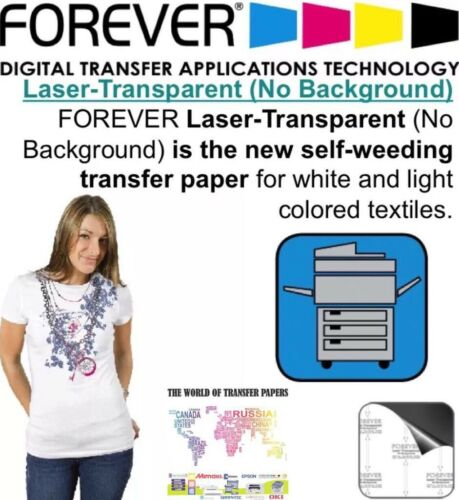 "8.5/"" x 11/"" Forever Laser Light No-Cut Heat Transfer Paper 25 Sheets"