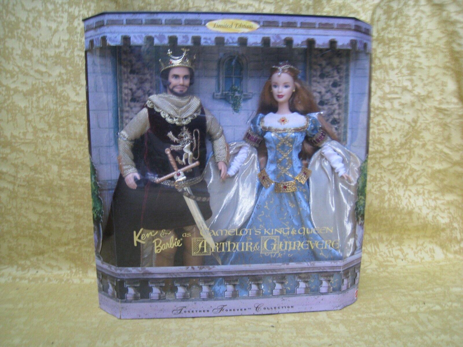 Mattel etat neuf boîte NRFB couple de poupées    ARTHUR & GUINEVERE  1999  23880 10fe37