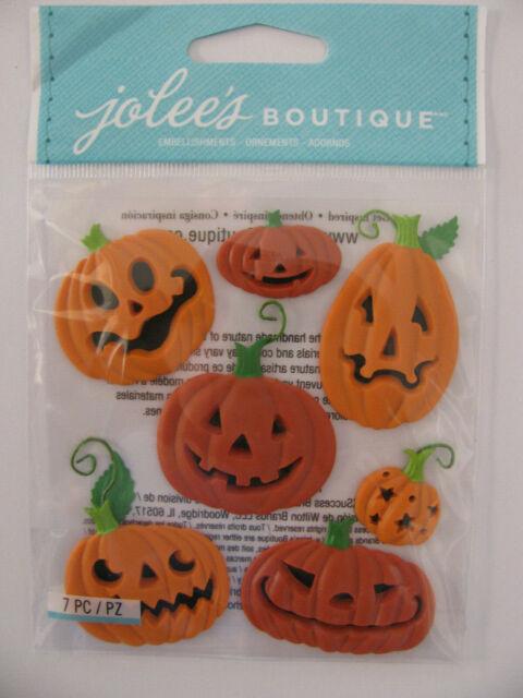 Jolee S Boutique Funny Pumpkins Halloween 3d Dimensional Stickers