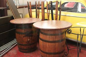 Image Is Loading Jack Daniels Furniture Barrel Table With Chairs