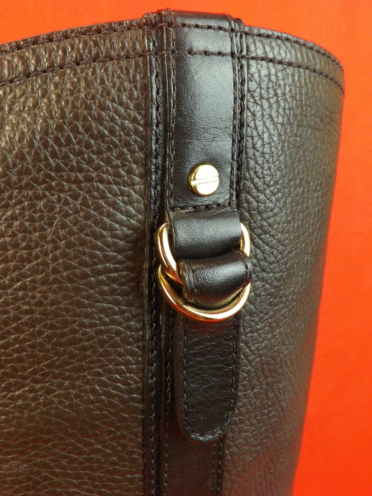 New in Box Tory Burch Burch Burch Noix De Coco Cuir Elina or Reva Tall Riding Belted Bottes 9.5  495 128896