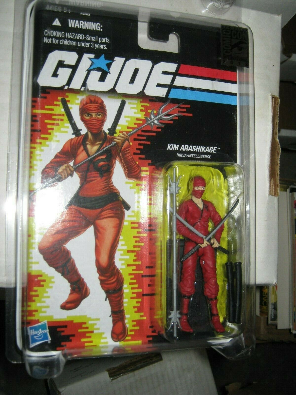 "2012 SDCC Comic Con Hasbro G.I. Joe Kim ""Jinx"" Arashikage Exclusive Figure"
