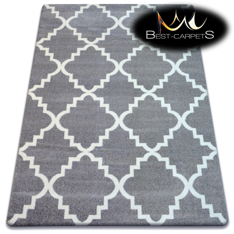 Amazing Amazing Amazing épais moderne tapis sketch treillis gris blanc F343 grande taille best-tapis c2224d