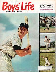 1959-Aug-Boys-039-Life-Magazine-Baseball-Mickey-Mantle-New-York-Yankees-FLR