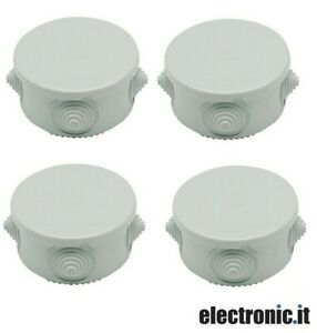 Scatola-di-derivazione-tonda-da-esterno-con-fori-passacavi-50x50mm-4-Pezzi
