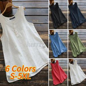 ZANZEA-Women-Sleeveless-O-Neck-Vest-Top-Casual-Loose-Basic-Shirt-Blouse-Pullover