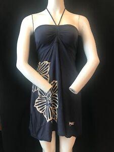 Animal Cotton And Modal Logo Halter Neck Summer Dress Uk 8 Ebay
