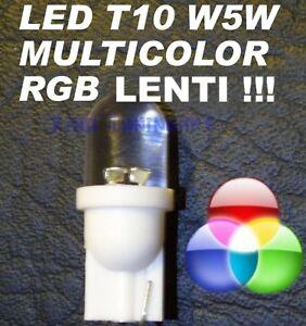 Light-Bulbs-LED-RGB-Multicolor-Lenses-T10-W5W-Lights-12V-Tri