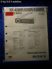 Sony Service Manual XR 4200R /4300R /4300RX Car Stereo (#4531)