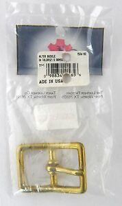 """Halter Buckle /""""Old 121/"""" Brass 1/"""" 1506-00 by Tandy Leather"""