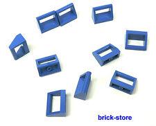 LEGO® /  1x2 Fliesen Platte mit Griff blau / 10 Stück
