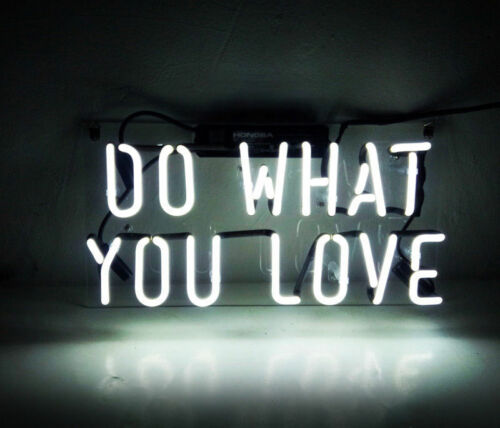 """New Do What You Love White Bar Pub Wall Decor Acrylic Neon Light Sign 14/"""""""