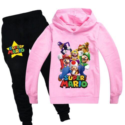 Cartoon Children Boys Casual Hooded Sweatshirt Long Sleeve Hoodie Set Age 3-14