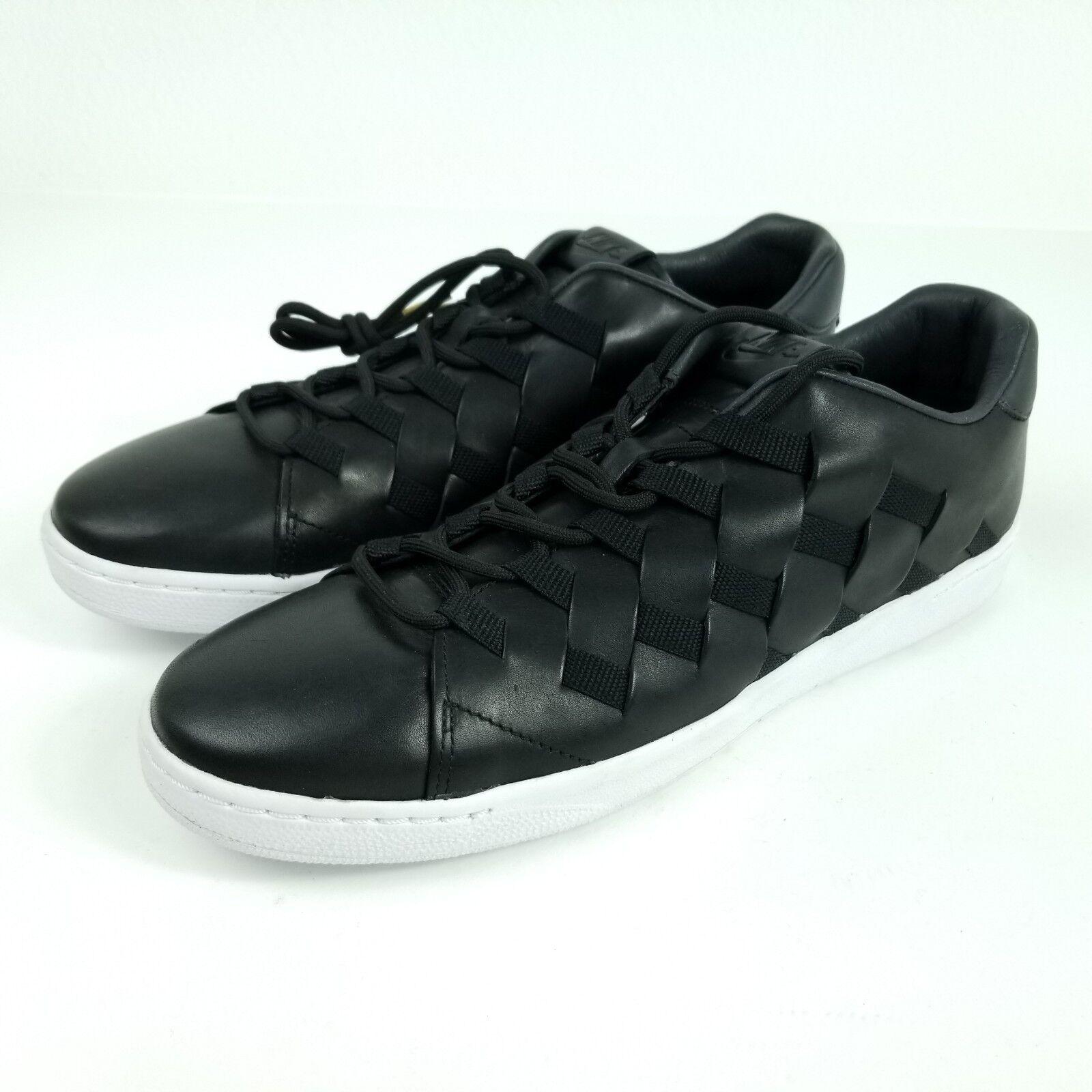 NIKE Tennis Classic Ultra PRM QS Premium Woven Mens 11.5 Shoes Black 830699 002