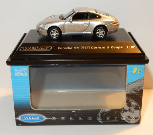 MICRO WELLY COLLECTION PORSCHE 911 997 CARRERA S COUPE GREY HO 1/87 IN BOX has