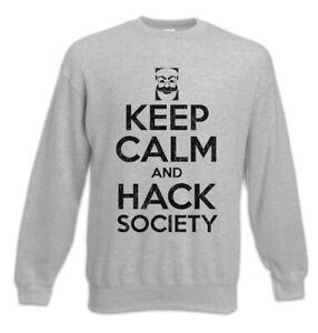 Society Pullover Robot Mr la Nerd e Hack Sweatshirt Mantieni Fun calma Hacker U1IYqwWz
